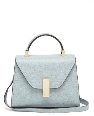 Valextra Iside Micro Grained Leather Bag - Womens - Light Blue