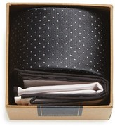 The Tie Bar Men's Dot Silk Tie & Cotton Pocket Square Style Box