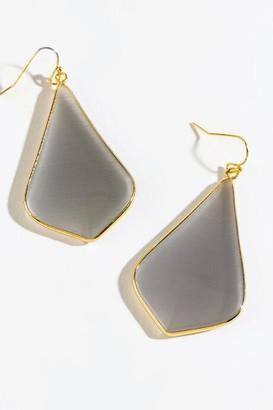 francesca's Gabriela Semi Precious Teardrop Earrings - Mint