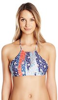 Seafolly Women's Out Of The Blue Reverse High Neck Bikini Top
