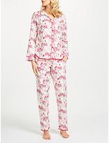 Cyberjammies Erin Floral Print Pyjama Set, White/Red