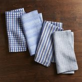 Crate & Barrel Set of 4 Blue Suits Dinner Napkins