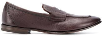 Henderson Baracco Burnished Pebbled Leather Loafers