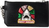 Saint Laurent sequined shark wallet