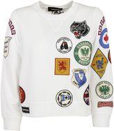 DSQUARED2 White/multicolor Patch Detail Sweatshirt