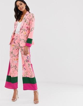 UNIQUE21 colour block pant-Pink