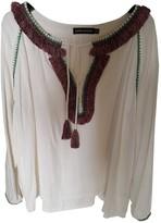 Antik Batik Beige Cotton Top for Women