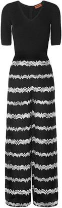 Missoni Striped Crochet-knit Wide-leg Jumpsuit