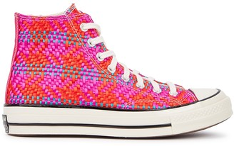 Converse Chuck 70 woven satin hi-top sneakers