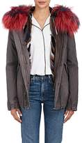 Mr & Mrs Italy Women's Fur-Trimmed Canvas Mini-Parka