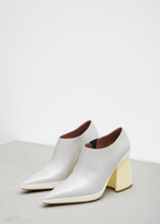 Marni light grey / yellow ankle boot