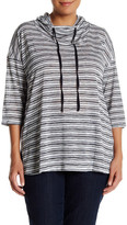 Hip Lightweight Striped Pullover (Plus Size)
