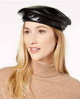 Steve Madden Faux Leather Beret