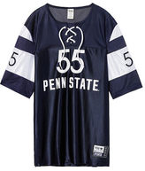 PINK Penn State University Lace-Up Boyfriend Jersey