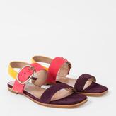 Paul Smith Women's Colour-Block Suede 'Rozelle' Sandals