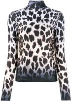 R 13 leopard print sweatshirt