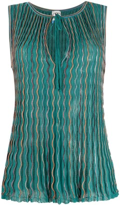 M Missoni Wave-Print Knitted Top