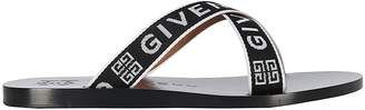 Givenchy Logo Crossover Strap Sandals