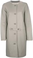 Yves Salomon collarless single breasted coat