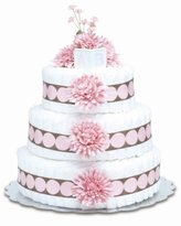 Bloomers Baby Diaper Cake Modern Pink Mums 3-Tier by