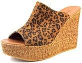 Nine West Lilahol1 Women US 8.5 Tan Wedge Sandal