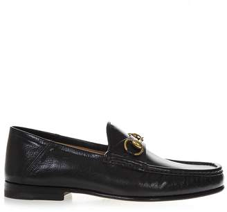 Gucci Black Leather Loafers With Iconic Horsebit