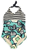 Tea Collection Girl's Cozzie One-Piece Halter Swimsuit