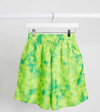 Collusion neon marble boxing shorts