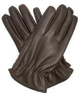 Giorgio Armani Grained-leather Gloves