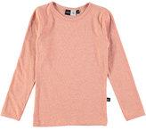 Molo Ramona Metallic Jersey Tee, Coral/Pink, Size 3-14