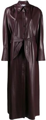 Nanushka faux leather shirt dress