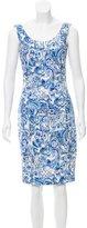 Prada Mosaic Print Knee-Length Dress
