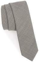Eleventy Houndstooth Wool Skinny Tie