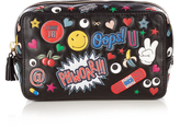 Anya Hindmarch All Over Stickers leather make-up bag