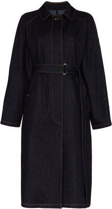 Moncler Pistache denim trench coat