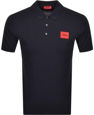 HUGO BOSS Dereso Short Sleeve Polo T Shirt Blue