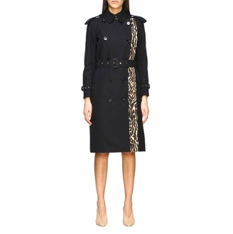 Burberry Medium Double-breasted Trench Coat With Animal Section