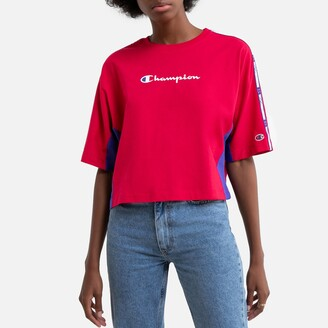 Champion Two-Tone Cotton T-Shirt with Logo