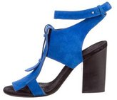 CNC Costume National Suede Ankle Strap Sandals