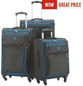 Revelation Revelation! Weightless Small 4 Wheel Soft Suitcase - Black