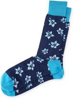 Bugatchi Floral-Print Cotton-Blend Socks