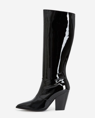 The Kooples Heeled black boots in patent leather