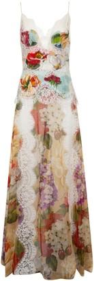 Dolce & Gabbana Laced Long Floral Print Dress