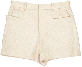 Chloé Ecru Cotton Shorts for Women