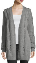 AG Jeans Sandrine Button-Front Oversized Wool-Blend Cardigan