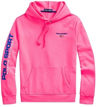 Polo Ralph Lauren Neon Fleece Drawstring Hoodie