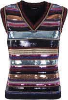 DSQUARED2 Sleeveless Sequin Stripe Top