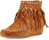 Ash Spirit Suede Fringe Moccasin, Brown