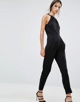 French Connection Diamond Drape Jumpsuit