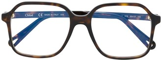 Chloé Eyewear Oversized Square Frame Glasses